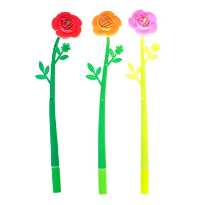 Ручка шариковая-прикол, «Цветок-Роза», МИКС