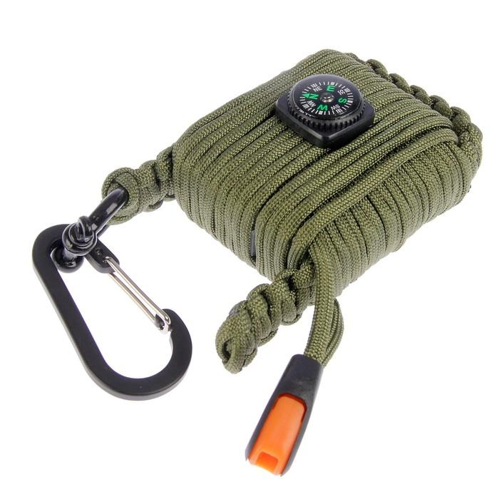 Комплект: верёвка (9.5 м) с компасом и насадками, 10.5 × 7.5 см, микс