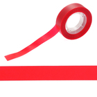 "Клейкая лента пластик матовая ""Красная"" намотка 25 метров ширина 1,5 см"