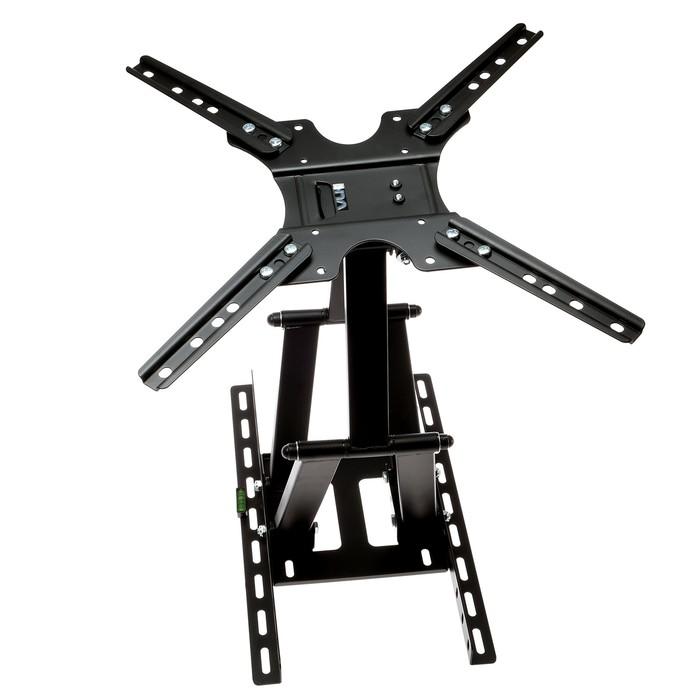 """Кронштейн VLK TRENTO-8, для ТВ, наклонно-поворотный, 26-65"""", 55-480 мм от стены, черный"""