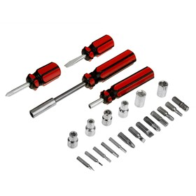 A set of screwdrivers and bits LOM, 23 subject