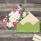Конверт для денег с тиснением «Весенние тюльпаны», 16,5 х 8 см