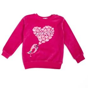 Джемпер велюровый для девочки, рост 98 см, цвет малиновый к0011