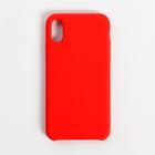 Чехол-накладка SMARTERRA MARSHMALLOW COVER для iPhone X (красный, RTL)