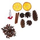 Набор ассорти (корица,бадьян, апельсин,шишки, ягоды декоративные)