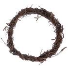 Венок декоративный, натуральный, плетеный из веток, 25см, ручная работа