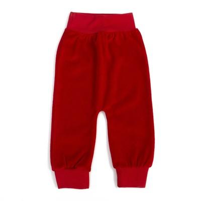 Штанишки детские велюровые, рост 80 см, цвет красный шт0007_М