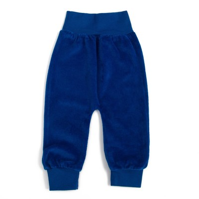 Штанишки детские велюровые, рост 80 см, цвет синий шт0007_М