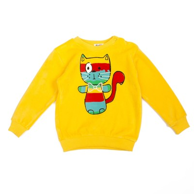 Джемпер велюровый для девочки, рост 98 см, цвет жёлтый к0011