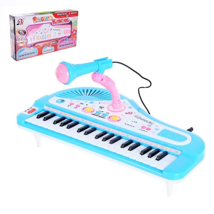 """Синтезатор """"Розовый слоник"""" с микрофоном, 37 клавиш."""
