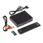 Приставка для цифрового ТВ D-COLOR DC1002HDmini, FullHD, DVB-T2, дисплей,HDMI,RCA,USB,черная