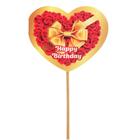 """Топпер - открытка """"Happy Birthday"""" розы"""