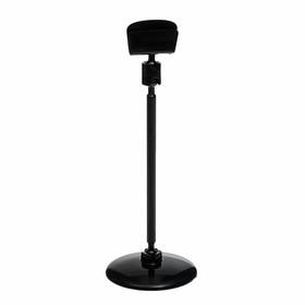 Ценникодержатель на круглой подставке, пластик, ножка 10см, d=3,6, цвет чёрный Ош