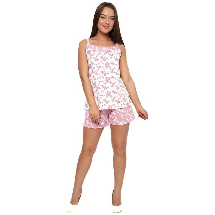 Пижама женская (майка, шорты) П-451 цвет МИКС, р-р 52