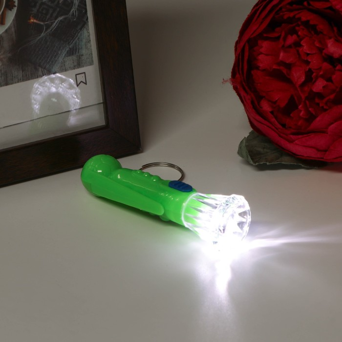 "Фонарик свет на кольце ""Шарик"" WZ-1786 МИКС 7,7х2,3х2,3 см"