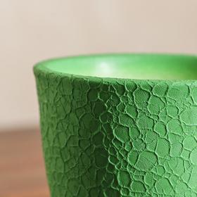 """Горшок для цветов """"Глория"""" шёлк, зелёное 0,5 л - фото 1693291"""