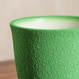 """Горшок для цветов """"Глория"""" шёлк, зелёный, 1 л - фото 1693262"""