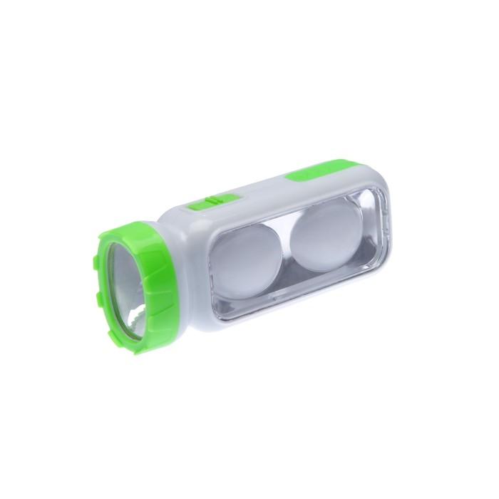 Фонарик с петлёй для ношения, 2 типа освещения, 3 АА, микс, 5.5х13 см