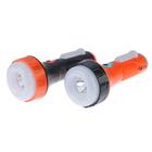 "Фонарик ""Сатурн"", 3 LED, 220V, 3 режима, USB, чёрно-оранжевый, 6х15.5 см"