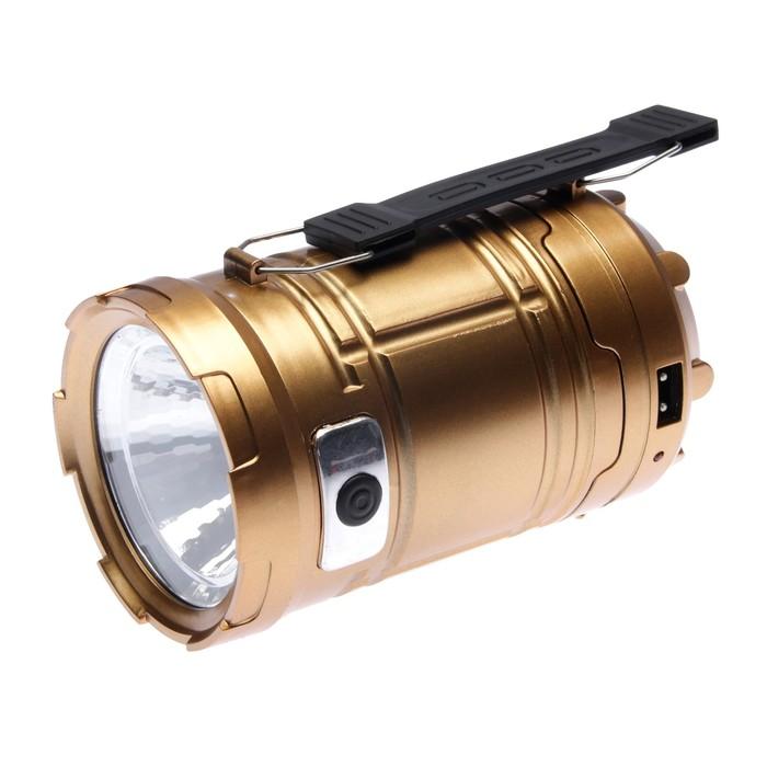 Фонарь кемпинговый, аккумуляторный, с вентилятором, 2 типа освещения, 3 режима, микс, 9х17 см 271263