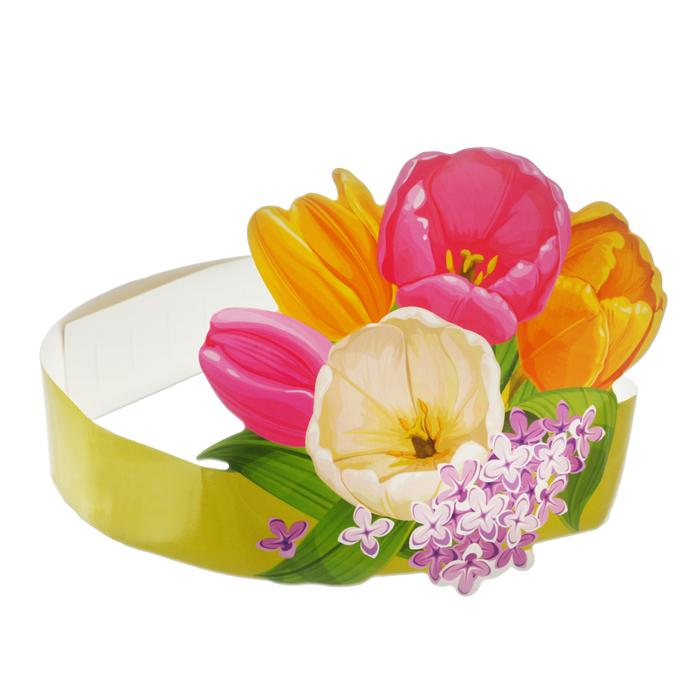 """Головной убор """"Цветы"""""""