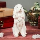 """Копилка """"Собака Спаниель"""" мини глянец белый"""
