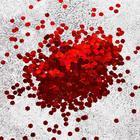 """Наполнитель для шара """"Конфетти шестиугольники"""", d=2 мм, 1 кг, цвет красный"""