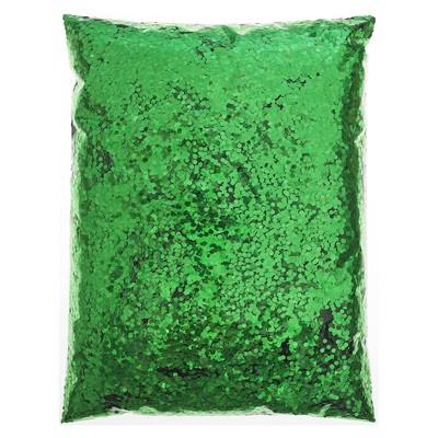 Наполнитель для шара «Конфетти шестиугольники», d=1 мм, 1 кг, цвет зелёный