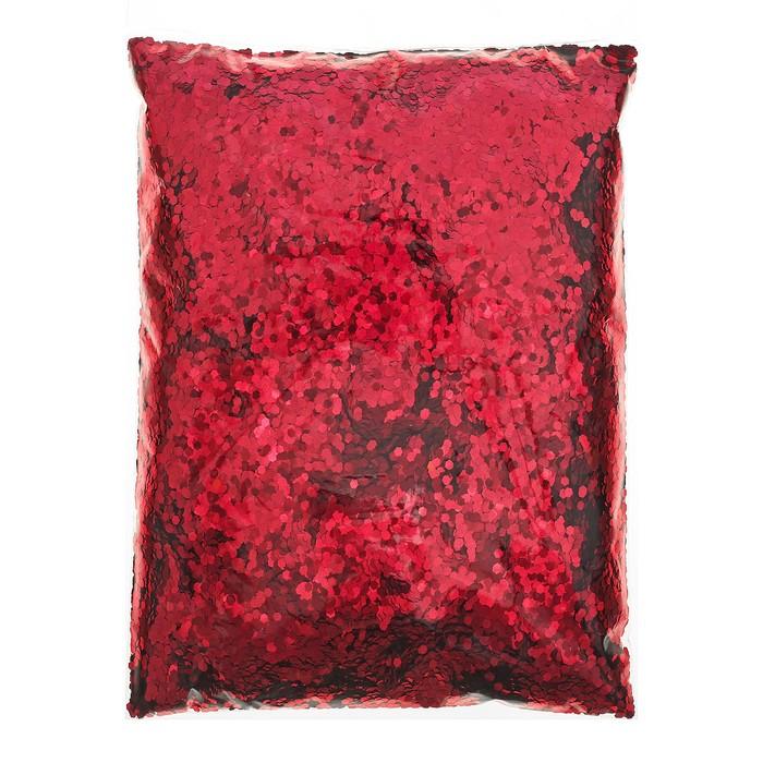 """Наполнитель для шара """"Конфетти шестиугольники"""", 500 г, цвет красный"""