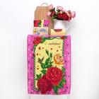Набор полотенец DomoVita 8е ма, цвет розовый МИКС 50х70 см 4 шт в пакете