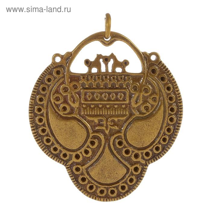 Кольцо височное «Вятичское», H50мм, L45мм, латунь