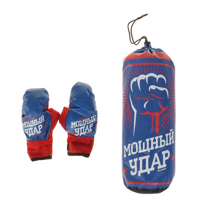Боксерский набор «Мощный удар», груша и перчатки