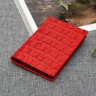 Визитница вертикальная, 1 ряд, 18 карт, кайман, цвет красный