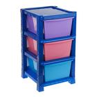 Система модульного хранения №10, цвет синий, 3 секции