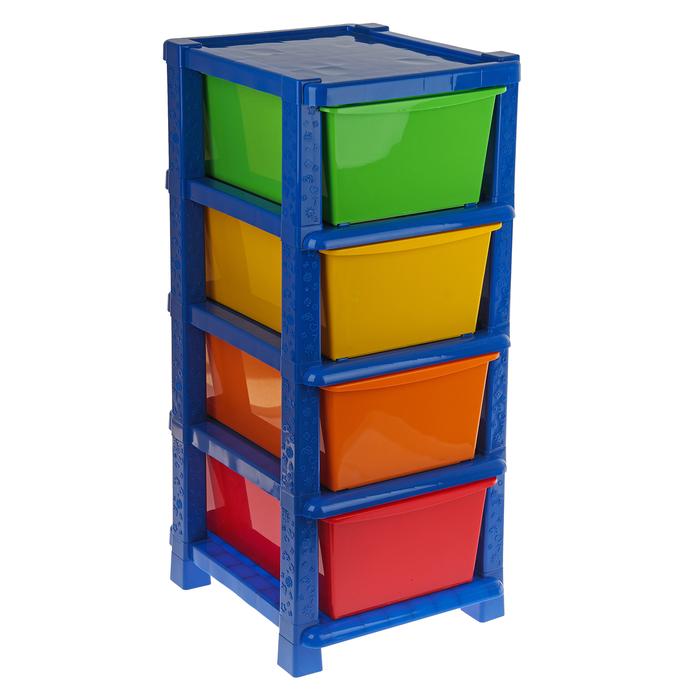 Система модульного хранения №14, 4 секции, цвет синий