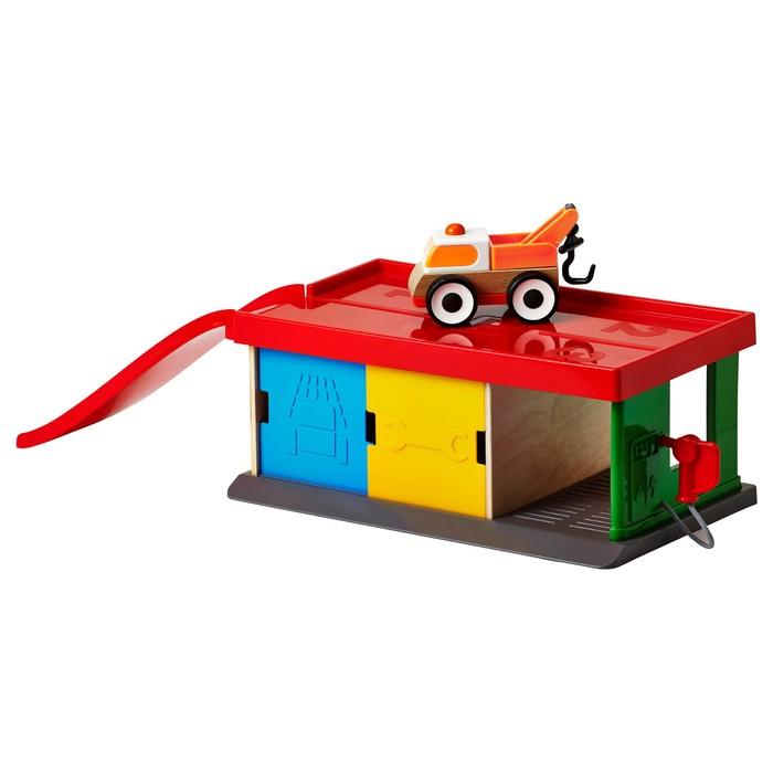 Деревянная игрушка «Гараж с эвакуатором» ЛИЛЛАБУ