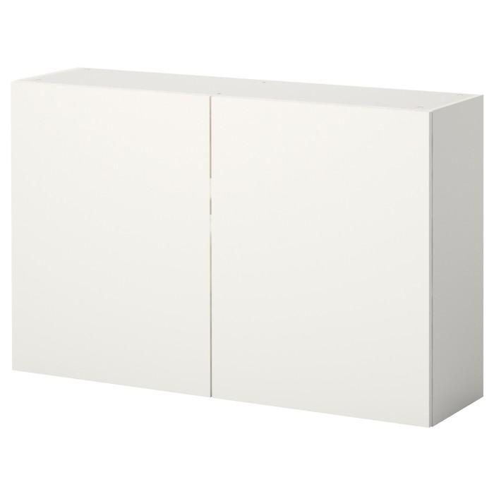 Навесной шкаф КНОКСХУЛЬТ с дверями, белый, 120x75 см