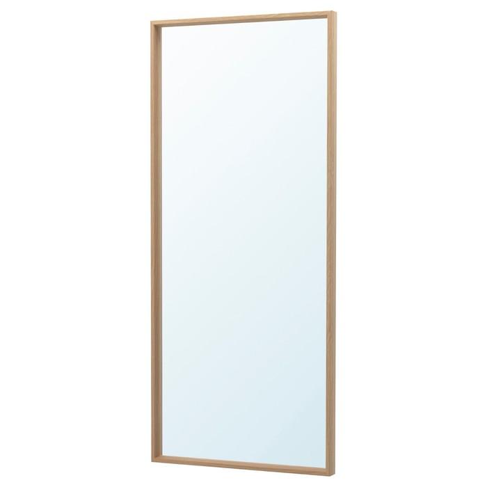 Зеркало НИССЕДАЛЬ, под беленый дуб, 65x150 см