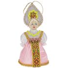 """Сувенирная кукла подвесная """"Девушка в розовом"""""""