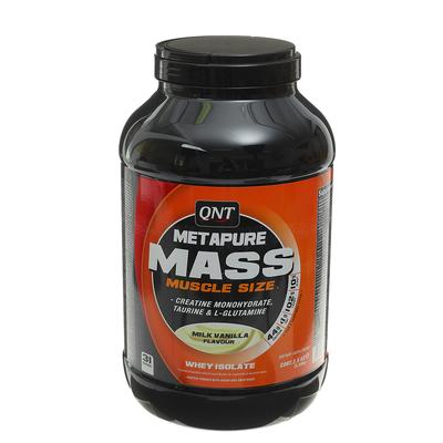 Гейнер QNT Metapure Mass+, молоко/ваниль, 2500 г