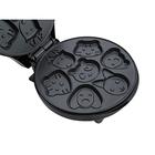 Вафельница Kitfort KT-1619 для детских вафель, 640 Вт, серебристый/черный
