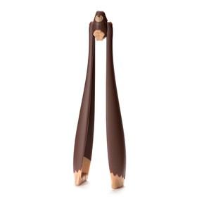 Щипцы салатные big foot коричневые