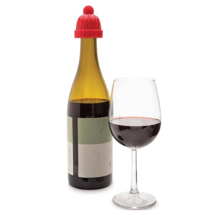 Пробка для бутылки beanie красная