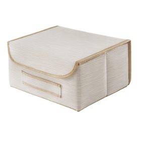 Коробка для хранения с крышкой, бежевая