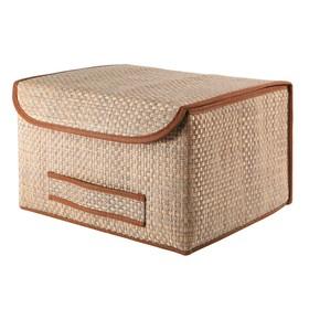 Коробка для хранения с крышкой, коричневая