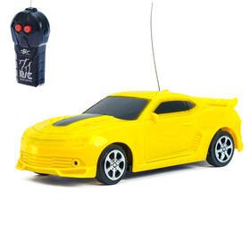 Машина радиоуправляемая «Мустанг», работает от батареек, цвет жёлтый Ош