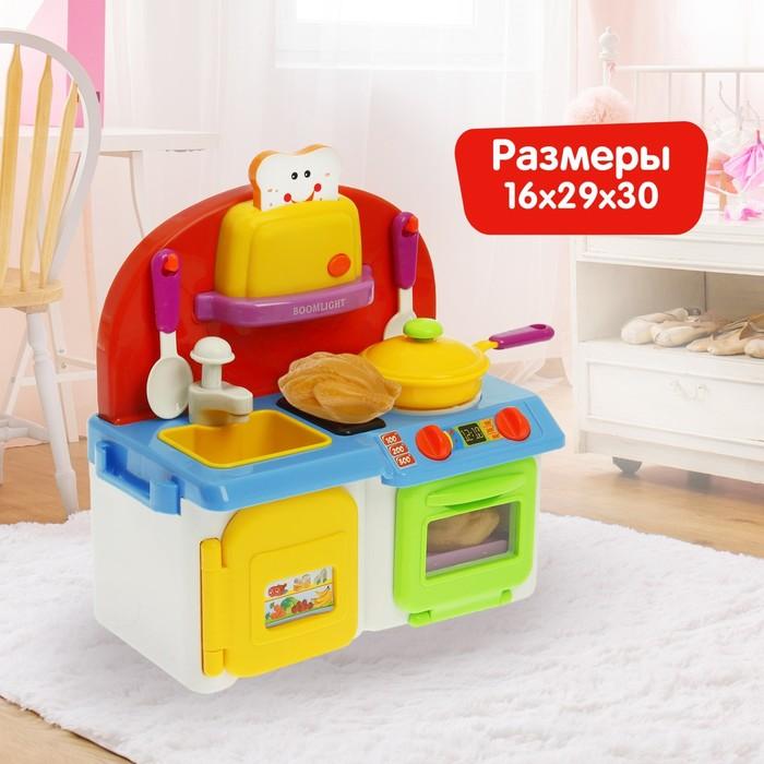 Игровой модуль «Моя кухня» с аксессуарами, световые и звуковые эффекты, бежит вода из крана