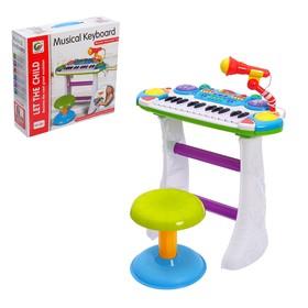 Напольный синтезатор «Лучший музыкант», со стульчиком и микрофоном