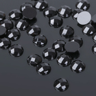 Стразы плоские круг, 6 мм, (набор 40шт), цвет черный
