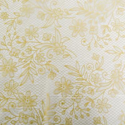 Скатерть с золотым узором, 132х183 см, цвет бежевый